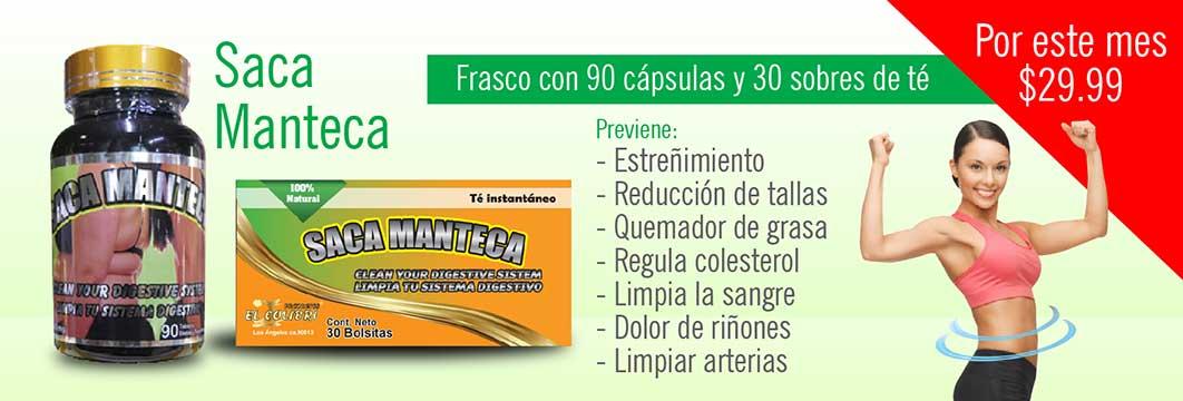 Saca Manteca $29.9 Cápsulas+ Sobres de té